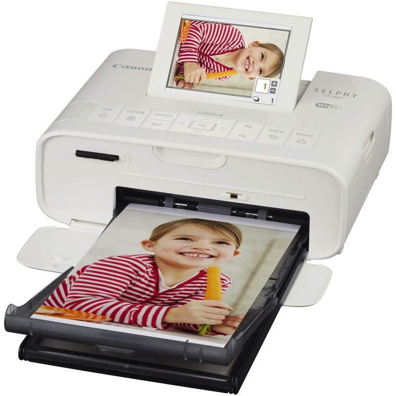Canon Selphy CP1300 Impresora Fotográfica Portátil WiFi Blanca