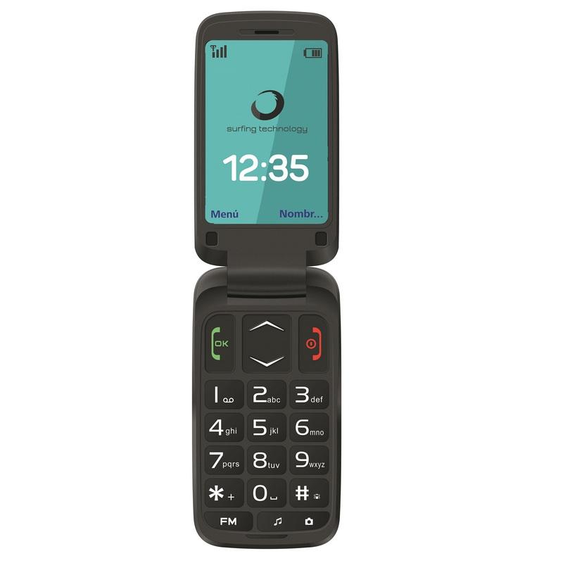 Brigmton BTM 5 FLIP Teléfono Libre para Personas Mayores Negro