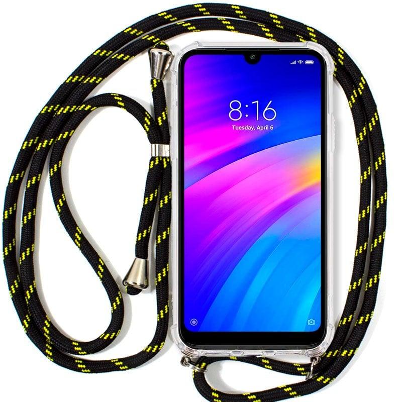 Cool Funda Con Cordón Negro/Amarillo Para Xiaomi Redmi 7