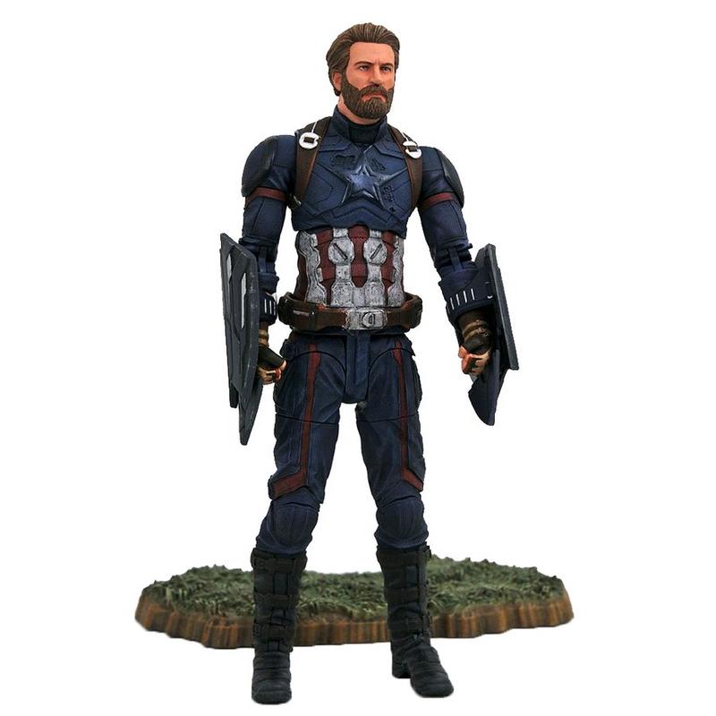 Marvel Select Capitán América Avengers Infinity War Figura Articulada 18cm