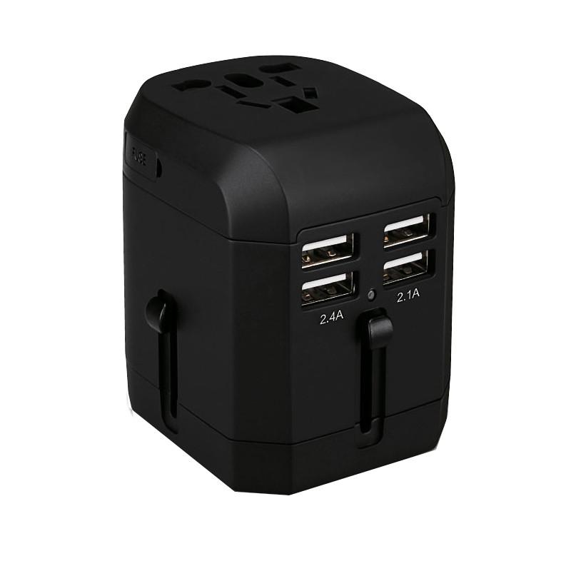 Metronic Mooov Adaptador De Viaje Universal 2 Polos 4 Puertos USB