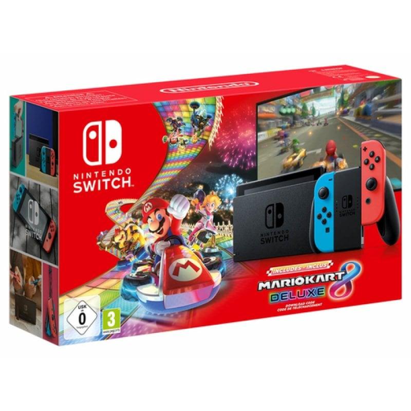 Nintendo Switch Azul Neón/Rojo Neón V2