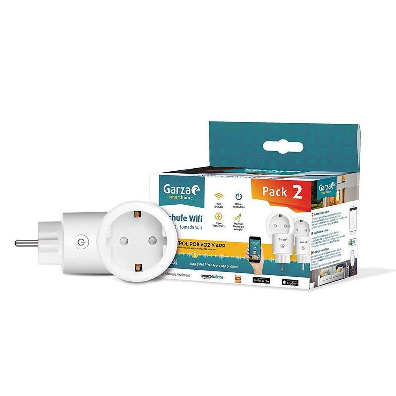 Garza SmartHome Pack 2 Enchufes Inteligentes WiFi