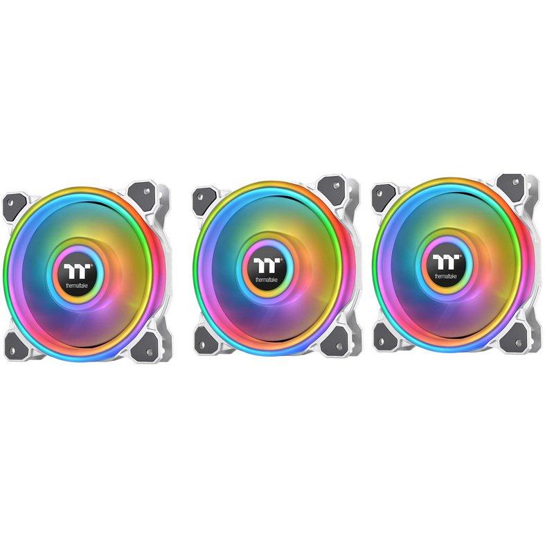 Thermaltake Riing Quad 14 RGB Radiator Pack 3 Ventiladores Edición Premium Blanco