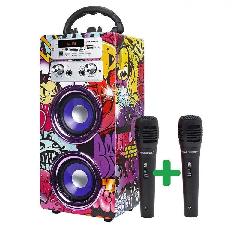 Dynasonic Karaoke 025 Altavoz Bluetooth con Karaoke y 2 Micrófonos Urban