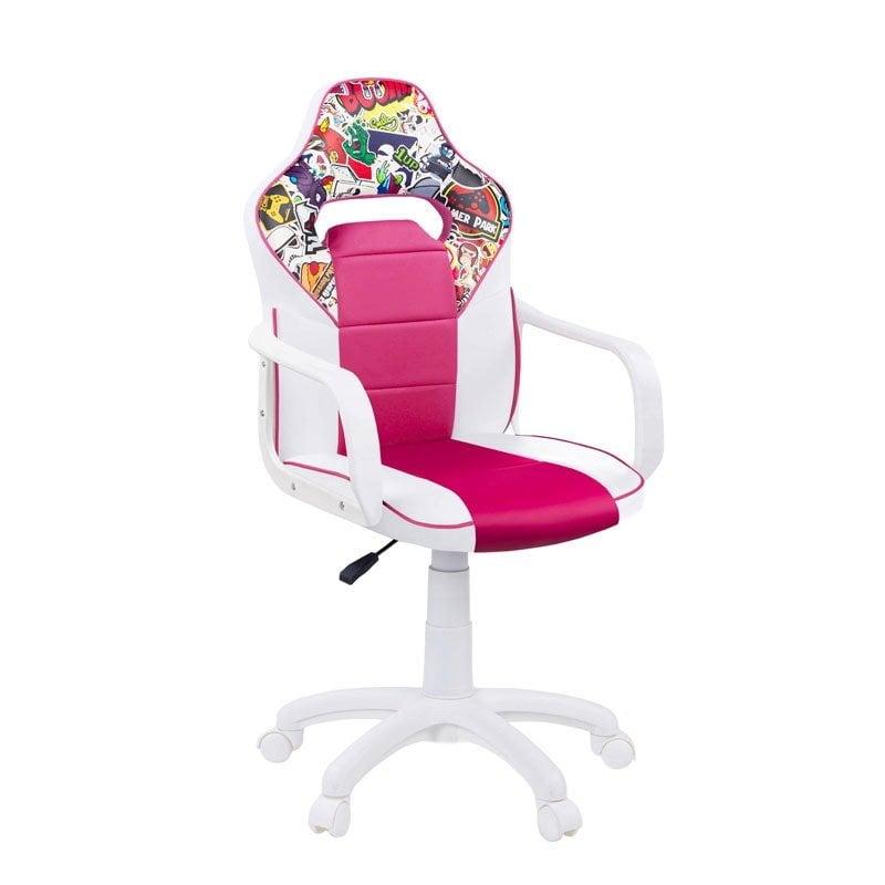 Adec DRW Sticker Silla Gaming Blanco/Rosa