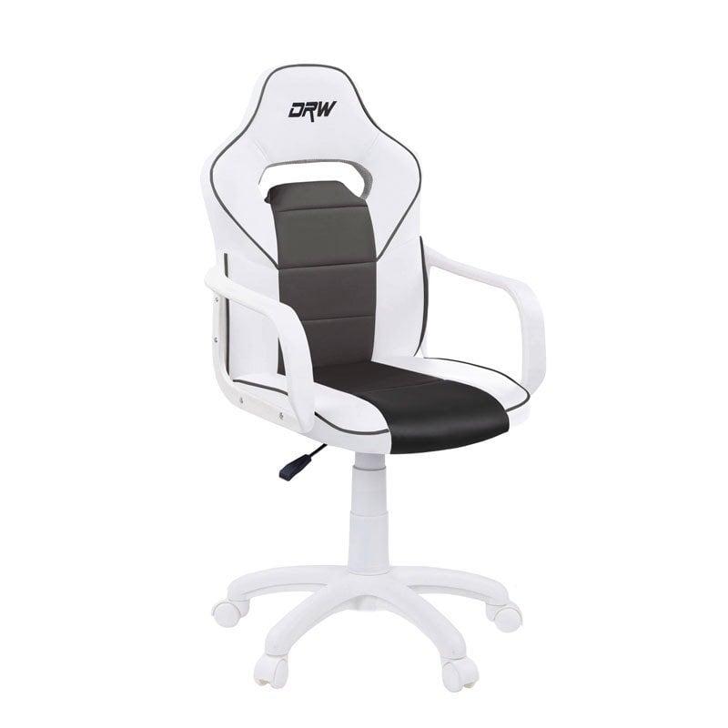 Adec DRW Silla Gaming Blanco/Negro
