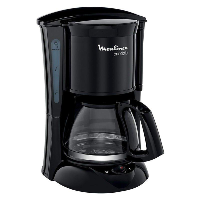 Independiente, Cafetera de filtro, 1,25 L, De caf/é molido, 1000 W, Blanco Cafetera Moulinex FG2601