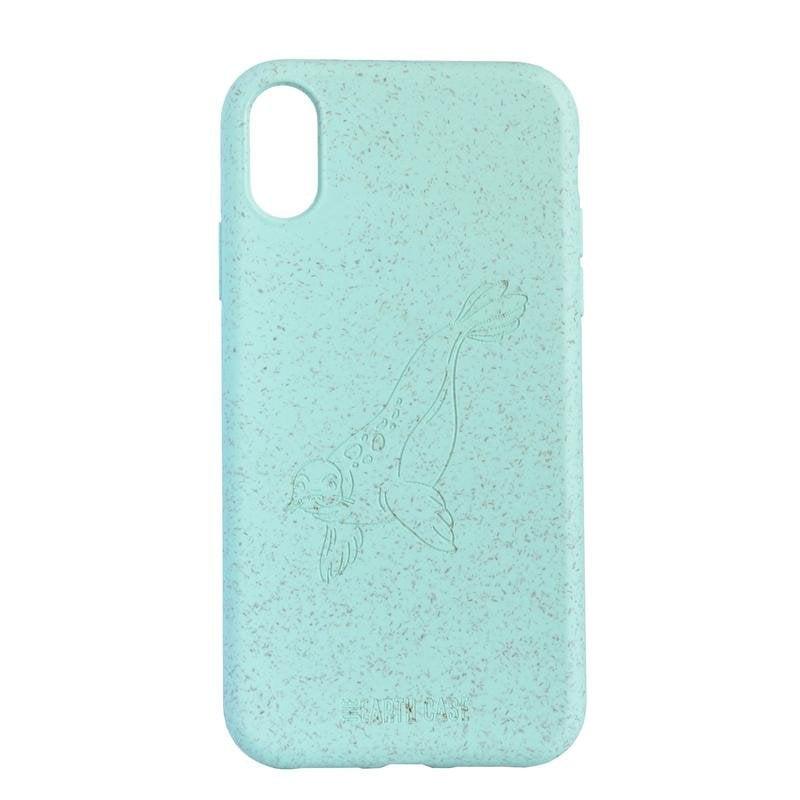 The Earth Case Funda Biodegradable Turquesa Foca para iPhone XR ◇ 422797