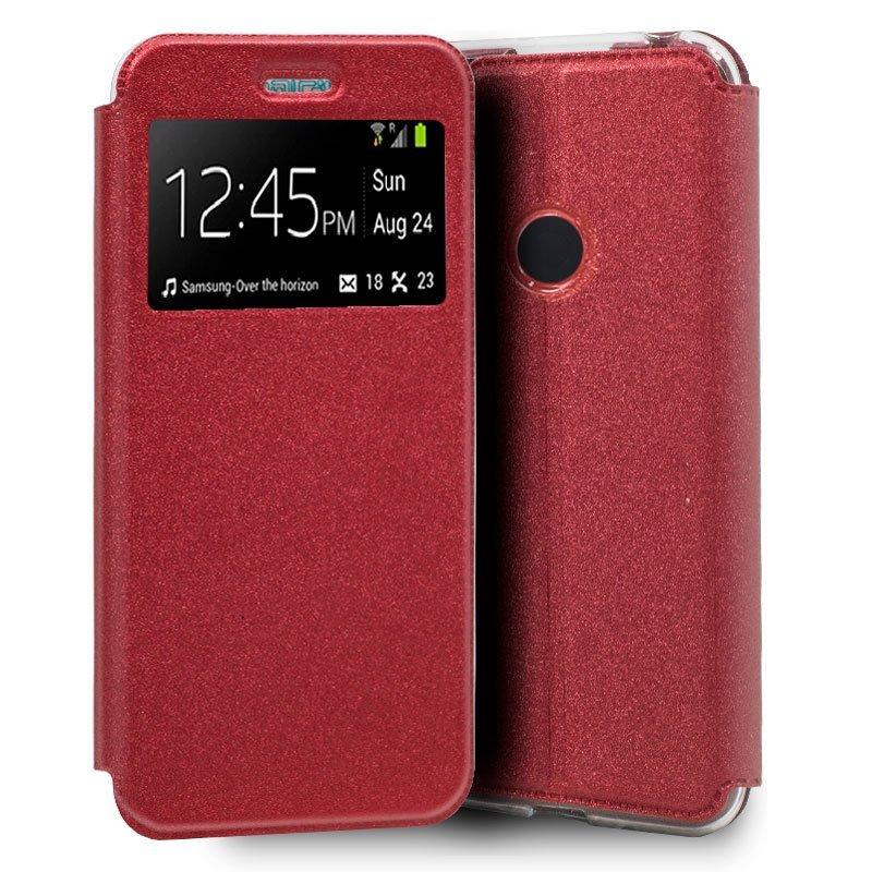 Cool Funda Flip Cover Liso Roja Para Xiaomi Redmi Note 8