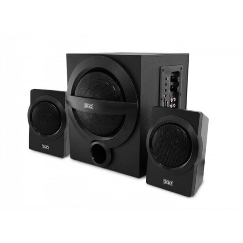 3Go Y750 Altavoces 2.1 Bluetooth 42W Negros