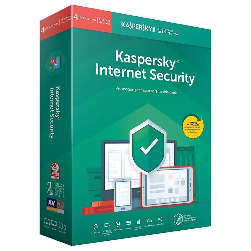 kaspersky lab internet security 2020 4 dispositivos 1 ano
