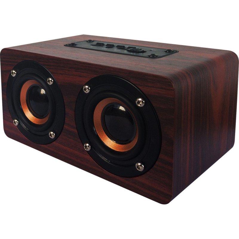 oqan qbt-100 bt altavoz bluetooth 10w madera