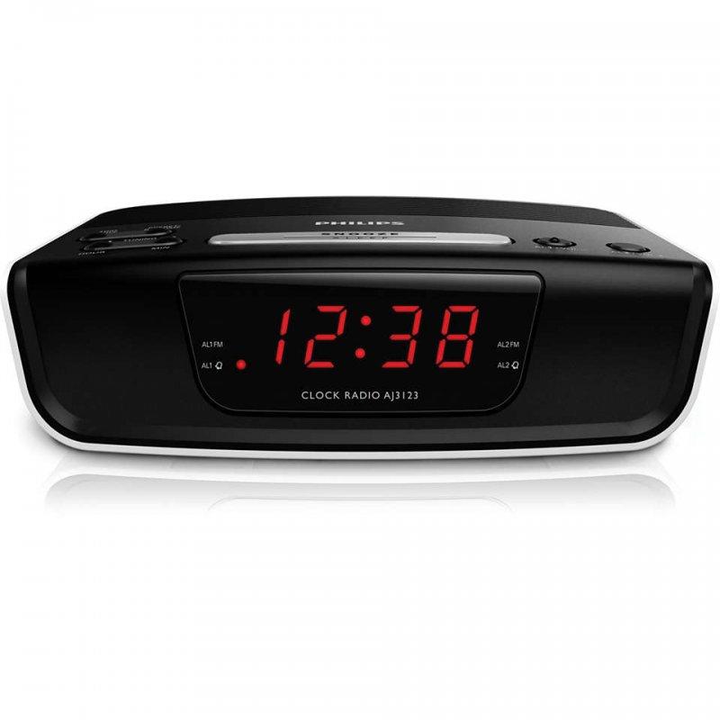 Philips AJ3123 Radio Despertador Negro