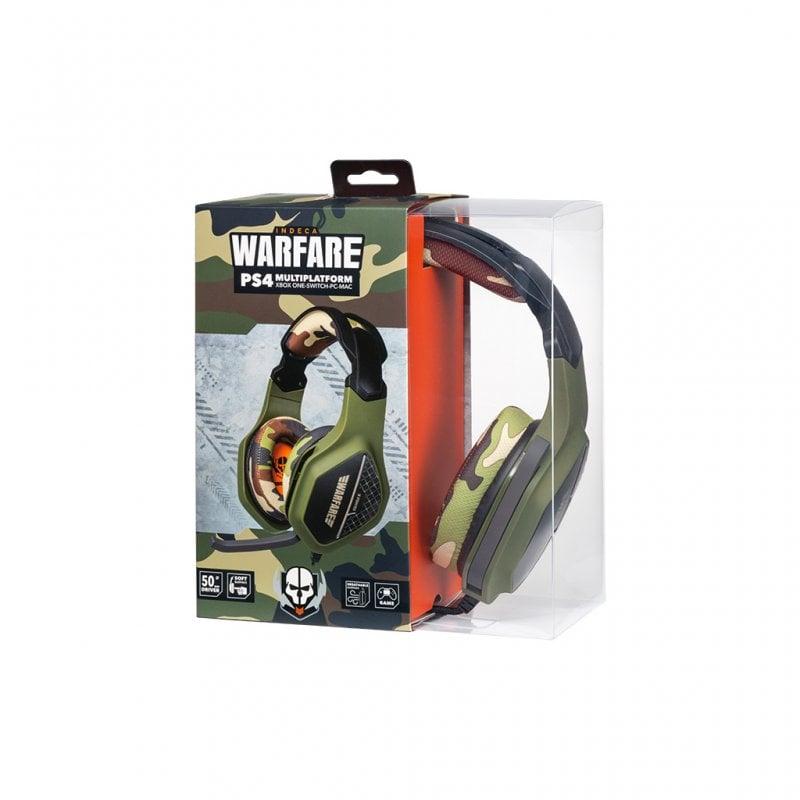 Indeca Warfare Auriculares Gaming Multiplataforma