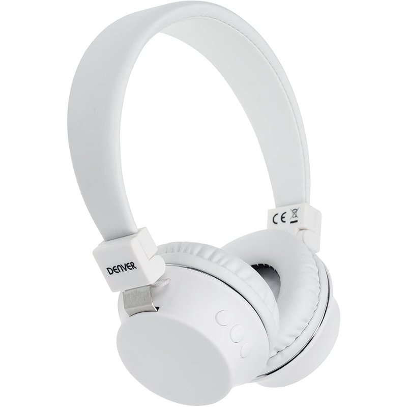 Denver BTH205 Auriculares Bluetooth Blancos