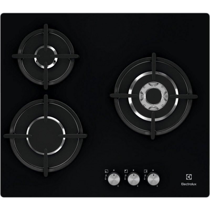 Electrolux EGT6633NOK Placa De Gas 3 Zonas 60cm Negra