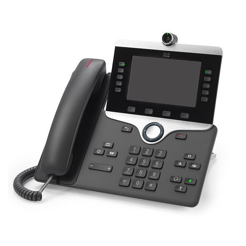 Tel/éfono IP Cisco IP Phone 8865 Carb/ón Vegetal, Terminal con conexi/ón por Cable, Digital, Escritorio//Pared, ABS, 800 x 480 Pixeles
