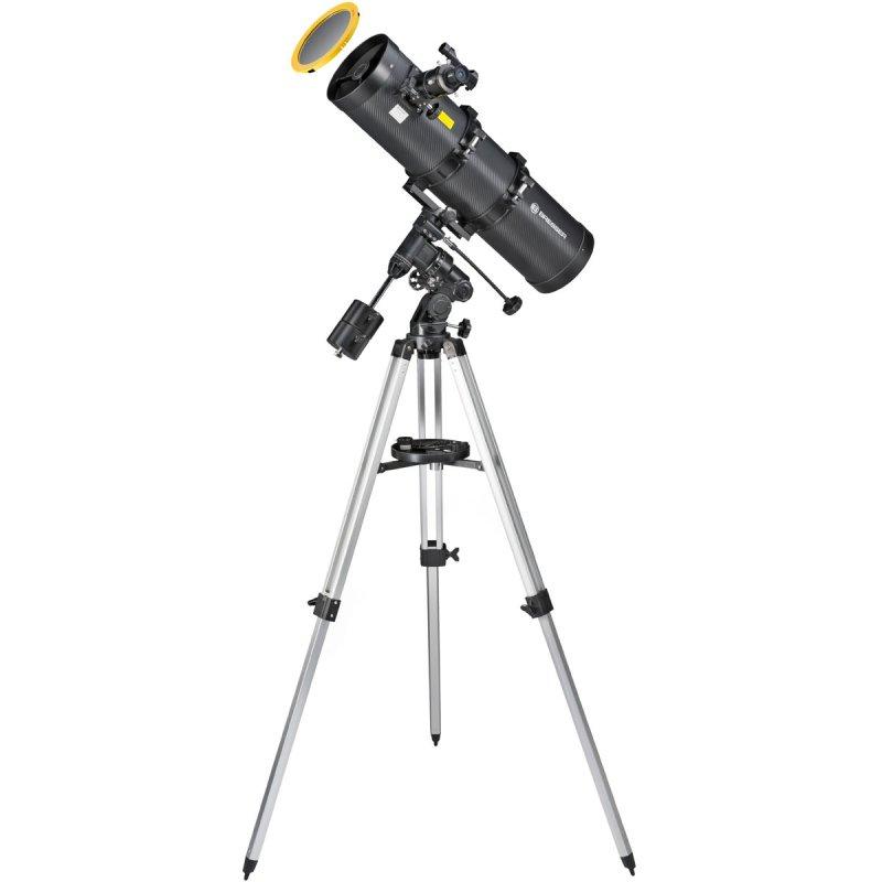 Bresser Pollux Telescopio Reflector 150/750 EQ3 con Filtro Solar y Adaptador para Móvil