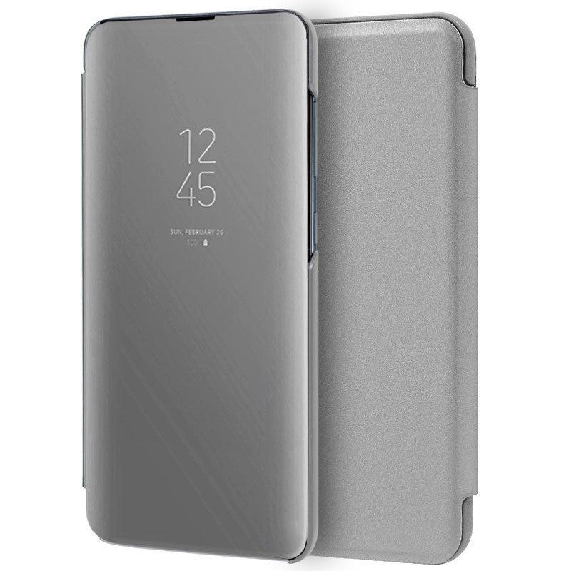 Cool Funda Flip Cover Clear View Plata Para Samsung Galaxy A10