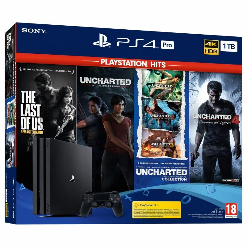 sony playstation 4 pro 1tb  the last of us  uncharted collection  uncharted 4  el legado perdido