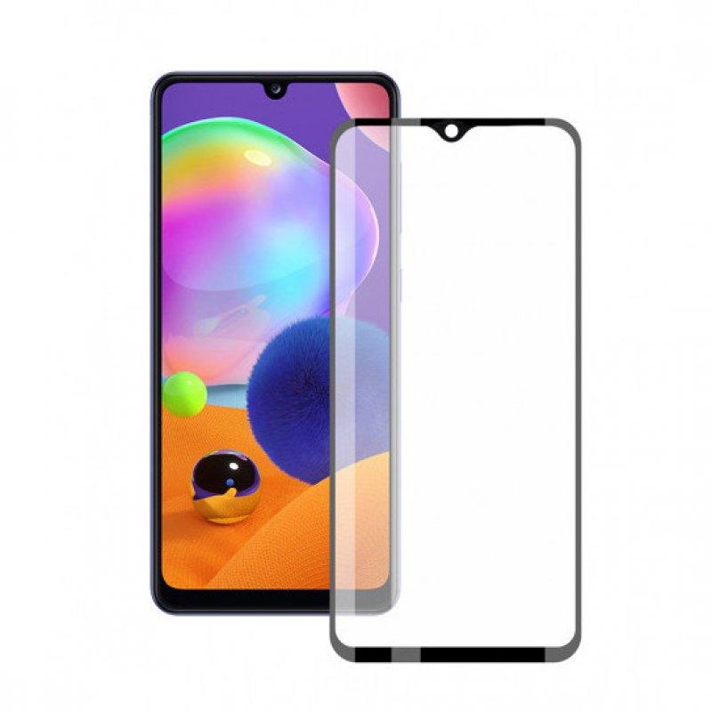 Contact Extreme 2.5D Protector Cristal Templado Negro para Samsung Galaxy A31