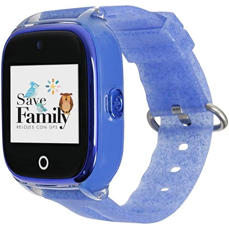 SaveFamily Kids Superior Smartwatch Para Niños Azul Glitter