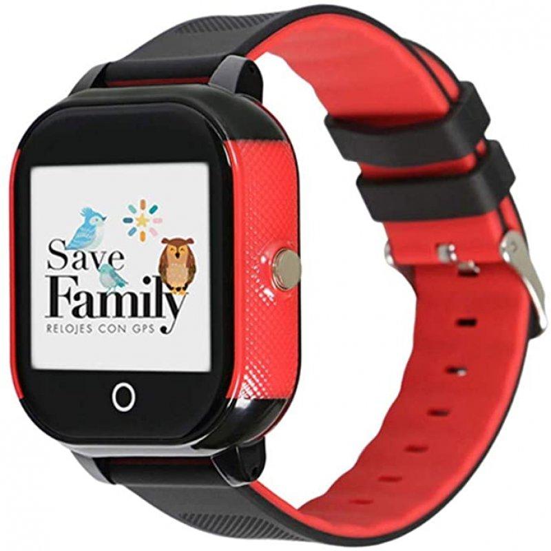 SaveFamily Junior Smartwatch Para Jóvenes Negro/Rojo