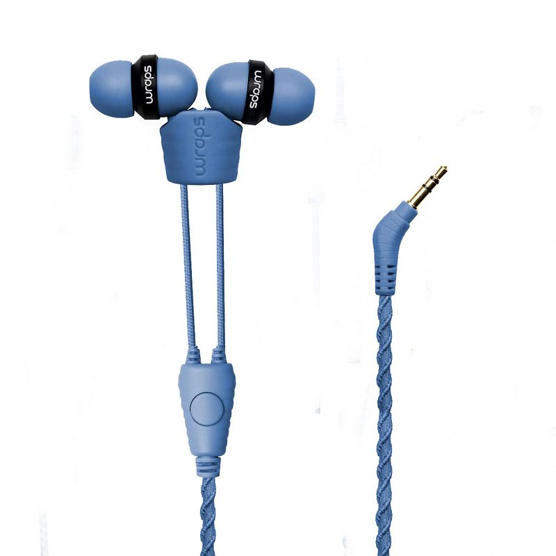 Wraps Auriculares Talk Denim Tela Trenzada Azul Vaquero