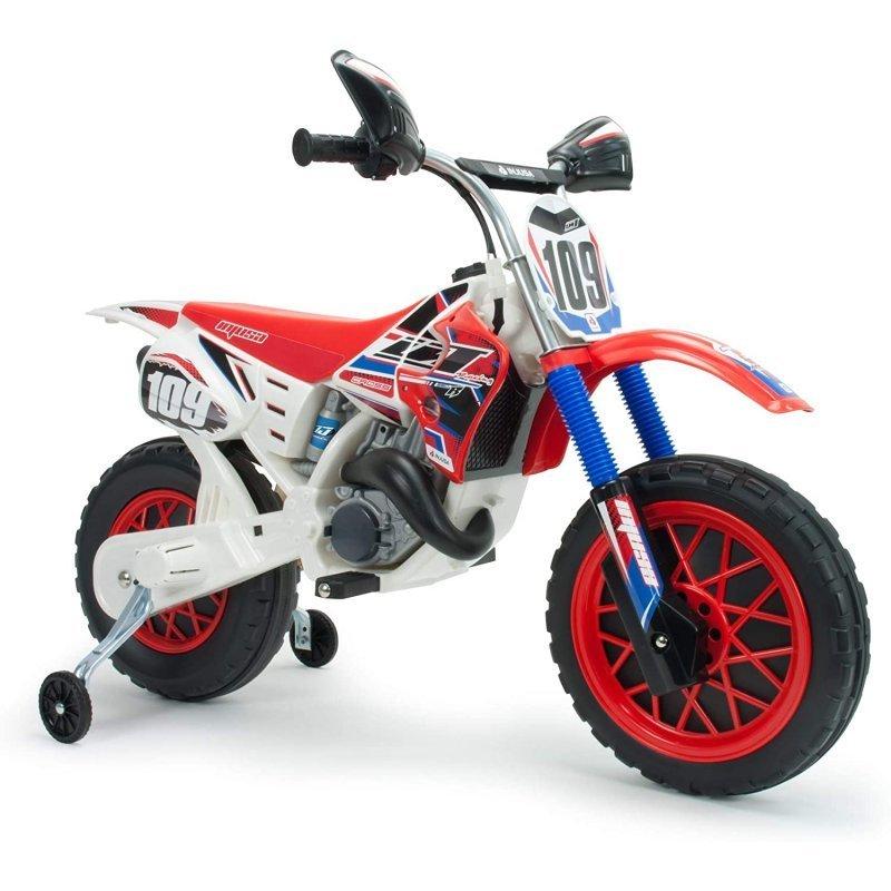 Injusa Moto Eléctrica Motocross CR 6V Roja