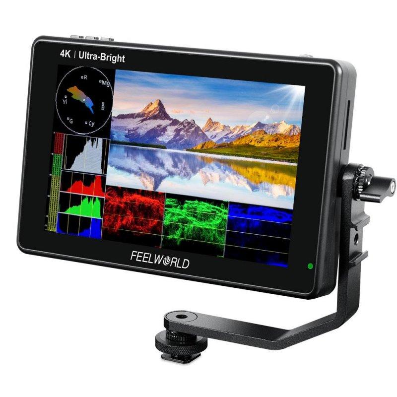 Feelworld LUT7S Monitor de Cámara con Pantalla Táctil 73D LUT 4K 3G-SDI