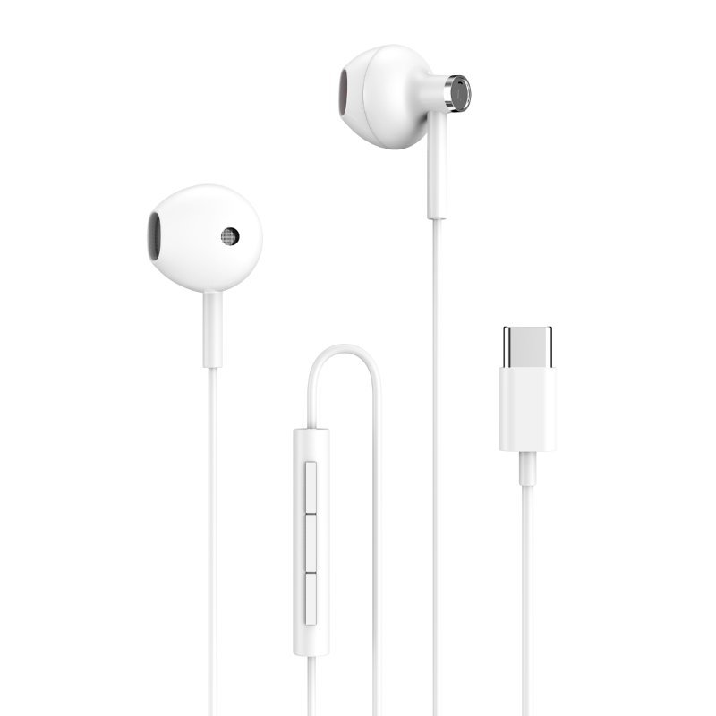 Home Auriculares con Control de Volumen USB-C 1m Blancos
