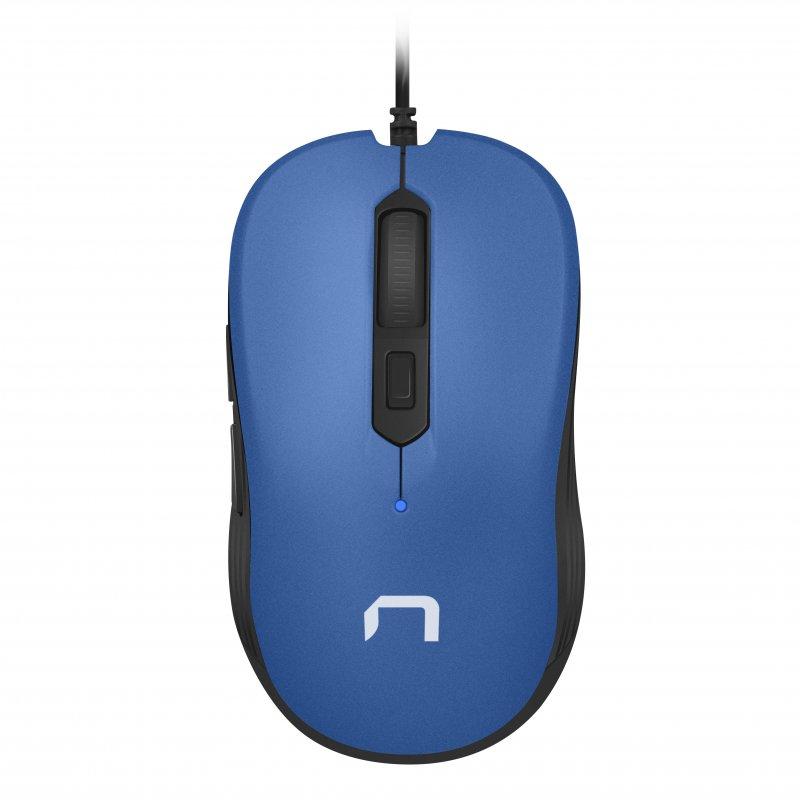 Natec Drake Ratón Óptico 3200 DPI Azul