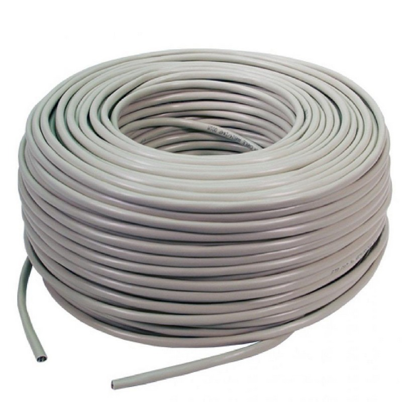 Digitus bobina 100m cable red r gido utp cat 6 10 100 1000 for Cable ethernet 20 metros