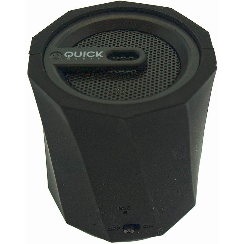 Quick Media Altavoz Bluetooth Silicona Negro
