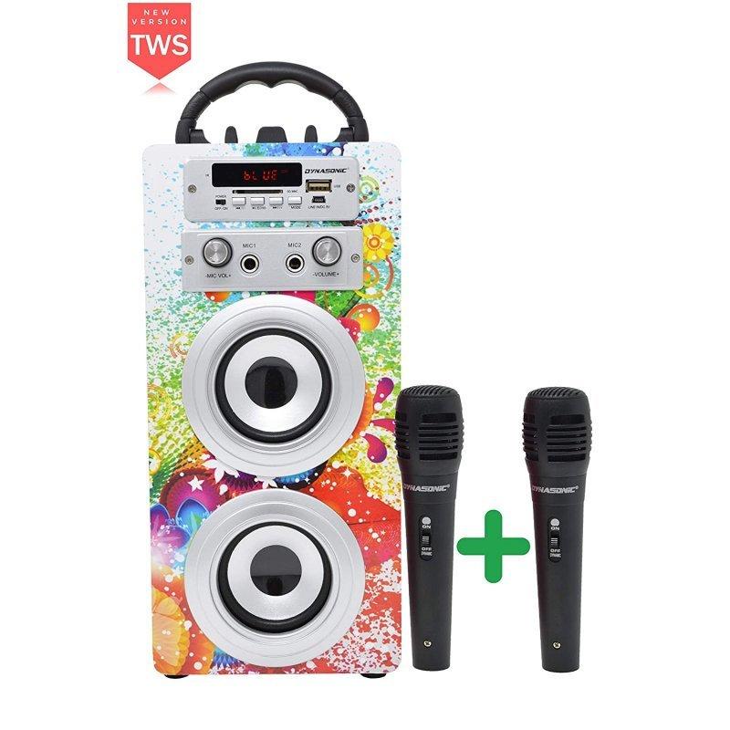 Dynasonic Karaoke 025 Altavoz Bluetooth TWS Con Karaoke Y 2 Micrófonos Multicolor