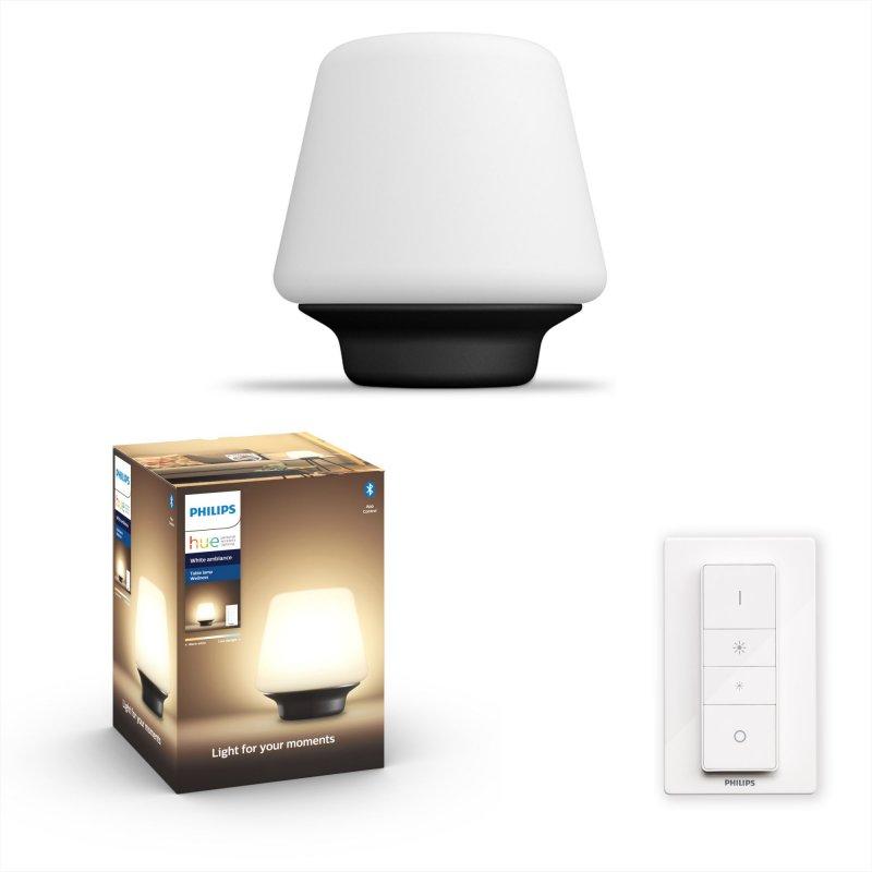 Philips Hue White Ambiance Wellness Lámpara De Mesa LED Con Mando