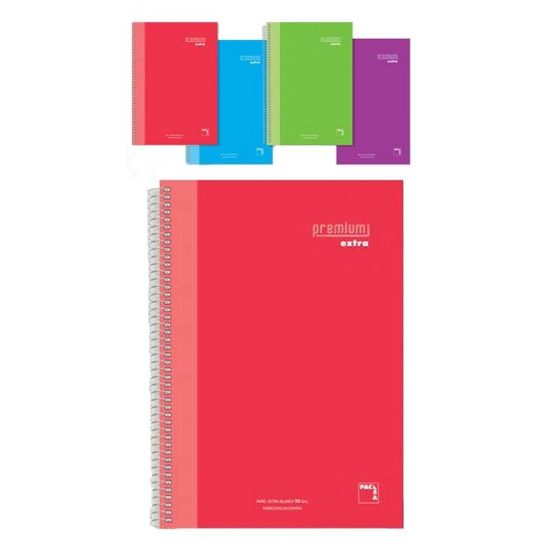 Sam Pacsa Premium Extra Cuaderno A5 Microperforado 4 Unidades Colores Surtidos