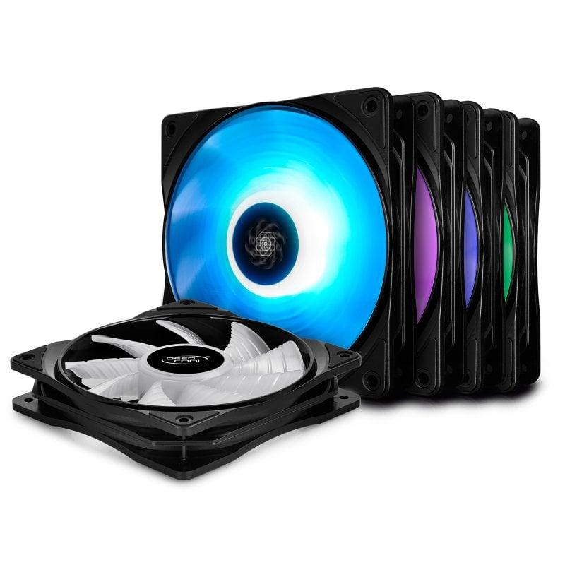 DeepCool RF 120M Pack 5 Ventiladores RGB 120mm