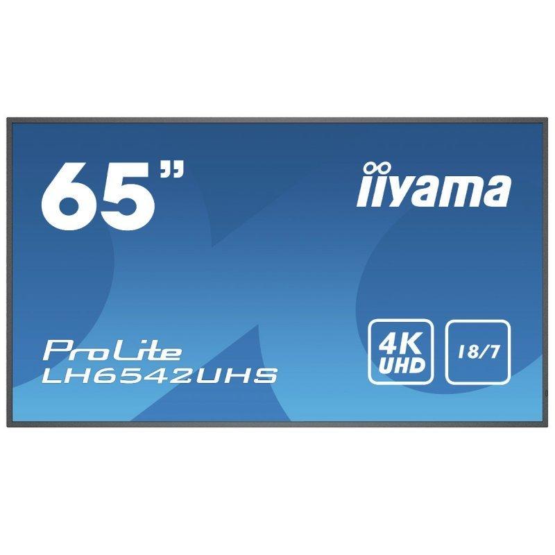 "Monitor iiyama ProLite LH6542UHS-B1 64.5"" Pantalla de Señalización Digital Profesional IPS 4K Ultra HD"