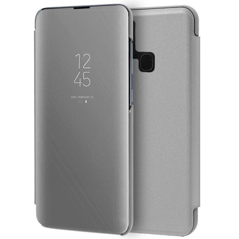Cool Funda Flip Cover Clear View Plata Para  Samsung M215 Galaxy M21 / M31