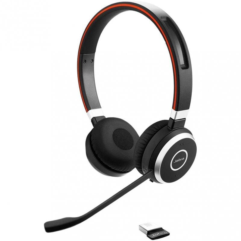 Jabra Evolve 65 UC Auriculares Bluetooth Negros