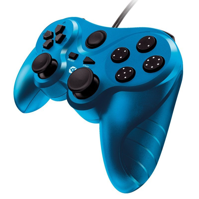 Gioteck VX3 Mando Con Cable Azul PS3