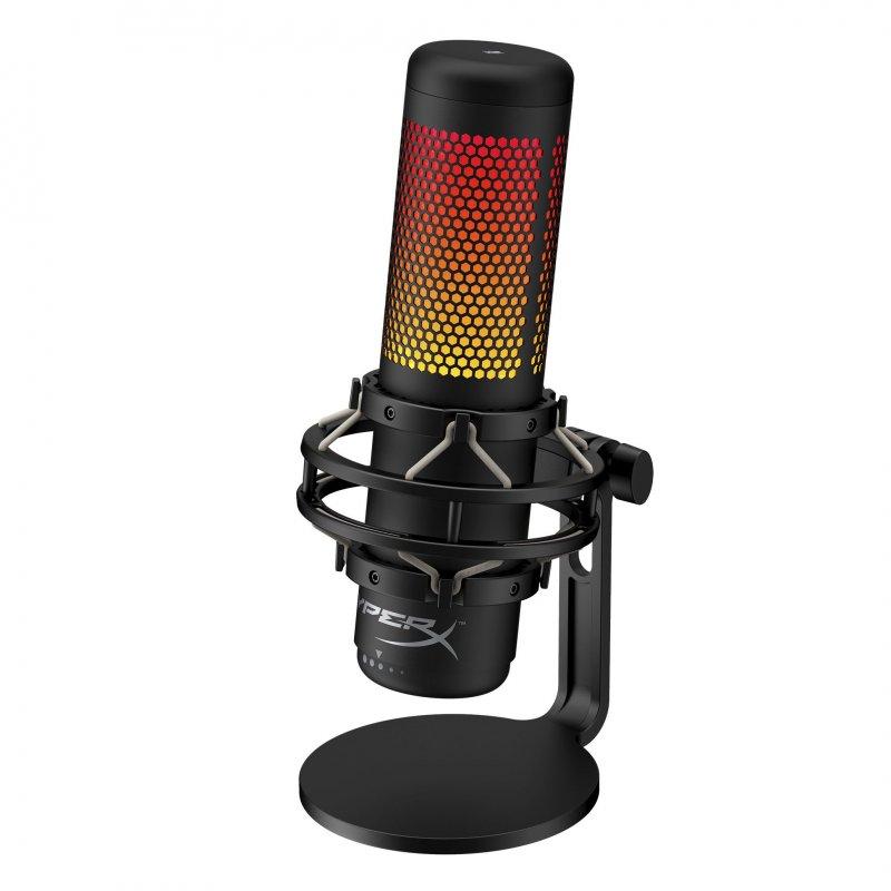 hyperx quadcast s microfono condensador usb autonomo rgb