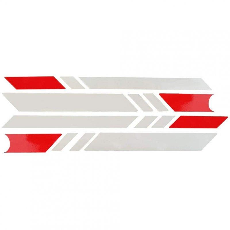 Urban Scout Pegatinas Reflectantes Plata Rojo para Scooter