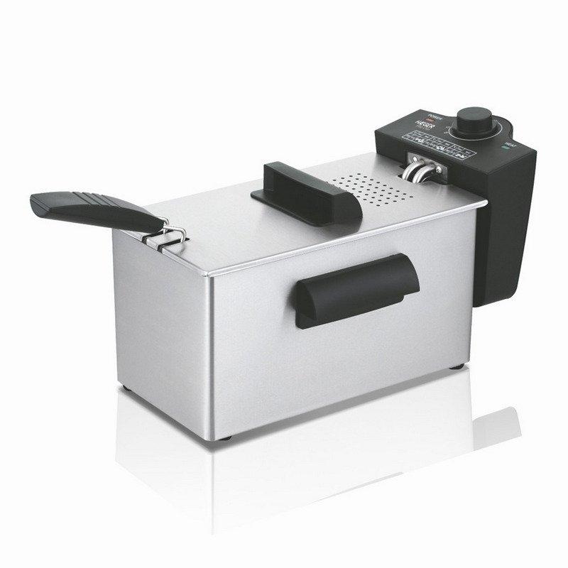 Haeger Pro Chips Freidora 3L 2000W Cubeta Esmaltada