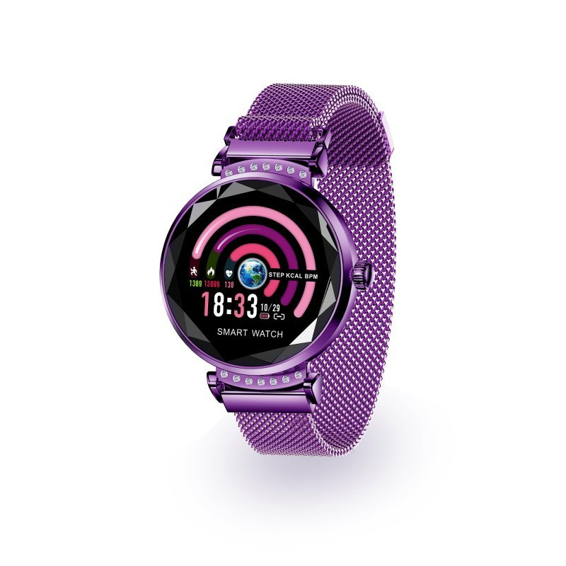 Unotec Watchuu Cleopatra Reloj Bluetooth con Control Ovulacion IP68 Morado