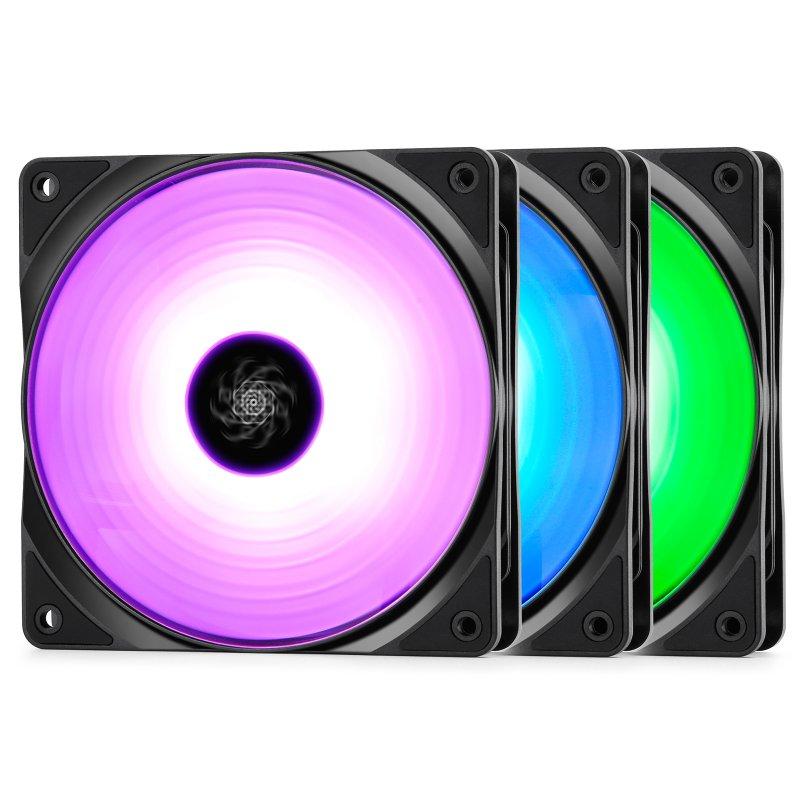 DeepCool RF 120 Pack 3 Ventiladores 120mm RGB