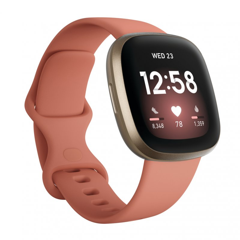 Fitbit Versa 3 Smartwatch Rosa/Aluminio Dorado