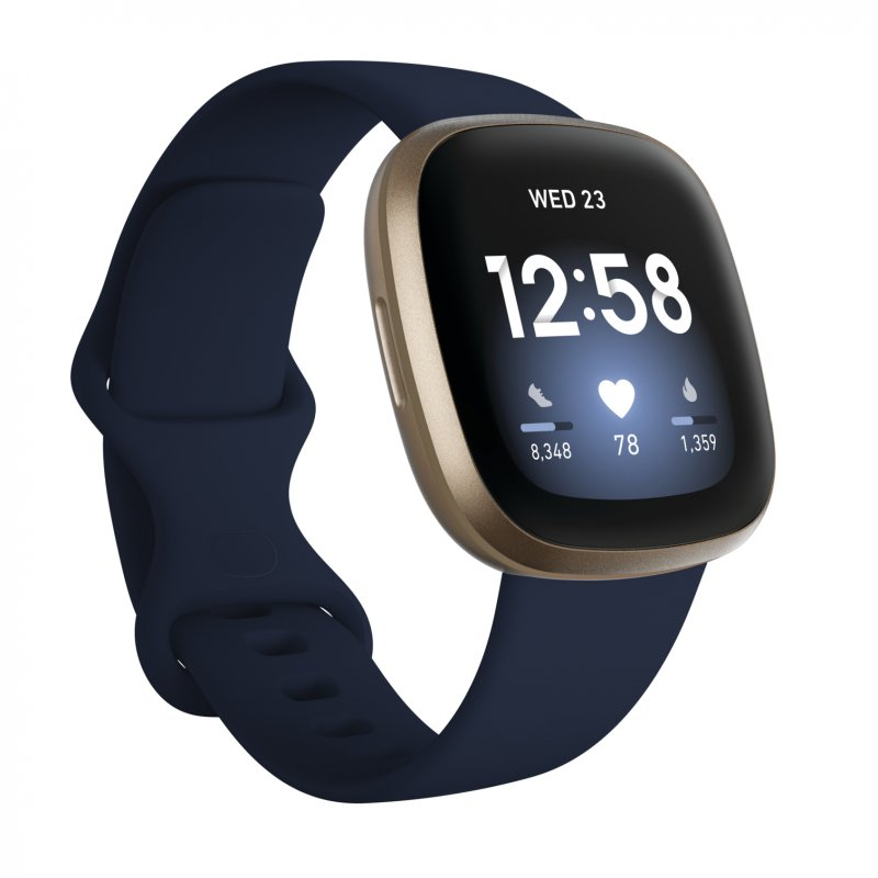 Fitbit Versa 3 Smartwatch Azul Medianoche/Aluminio Dorado